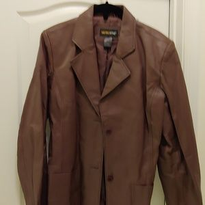 Chocolate leather 10T blazer